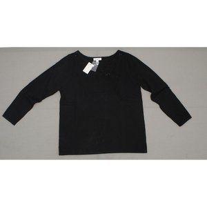 NWT Susan Graver Embellished Sweater Black 1X